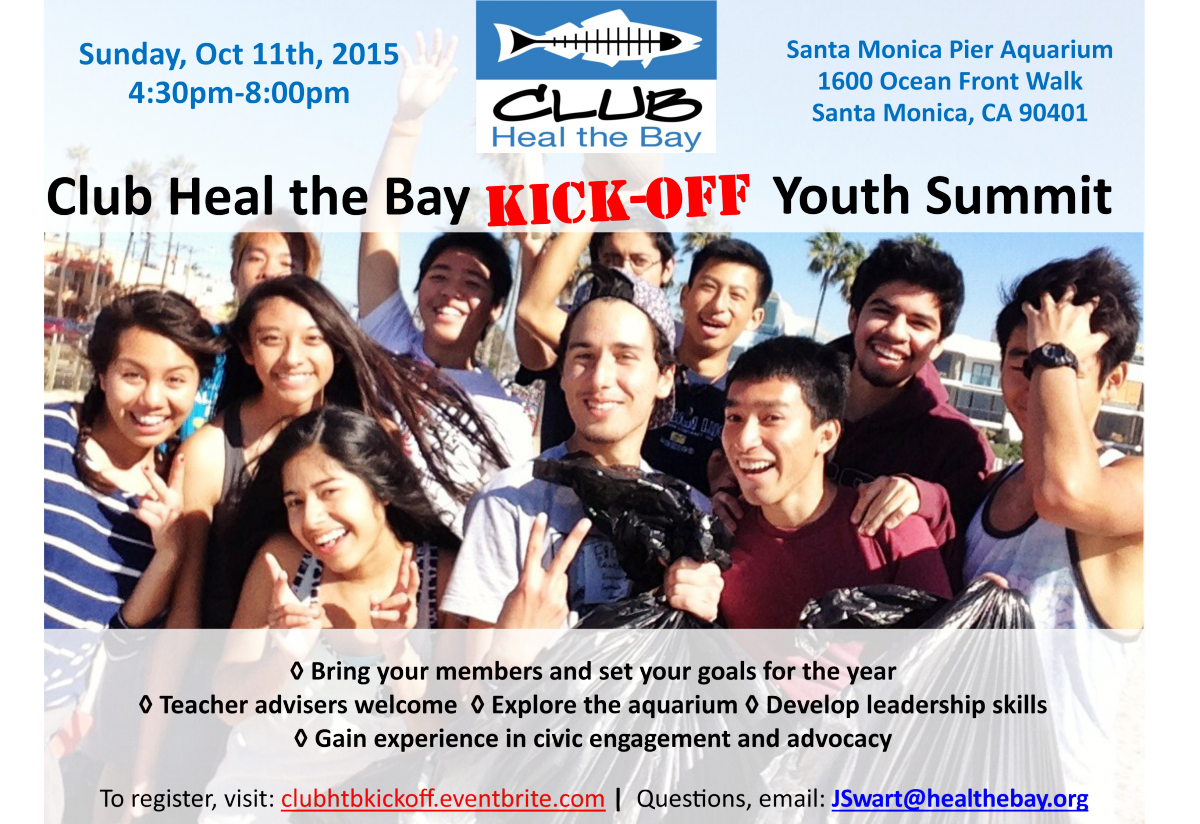 Heal the Bay's Fall 2015 Youth Summit