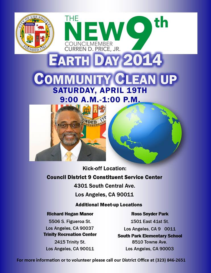 "The ""New 9th"" Earth Day 2014 Community Clean-up"