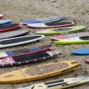 June 9 ocean sport paddleboard surf swim Santa Monica pier