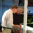 Mark Gold and Gray Davis at the Santa Monica Pier Aquarium