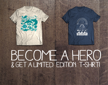 limited edition heal the bay earth month hero t-shirts