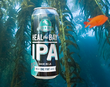 Heal the Bay IPA Golden Road Brewing beer kelp ocean garibaldi