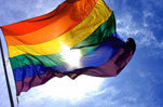 Rainbow Flag Gay Pride LGBT Heal the Bay Beach Please