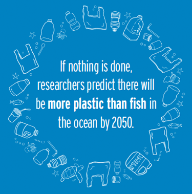 If nothing is done, researchers predict there will be more plastic than fish in the ocean by 2050.