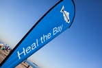 Heal the Bay beach cleanup flag