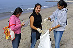 Beach Cleanup with the Santa Monica Pier Aquarium in celebration of Earth Day