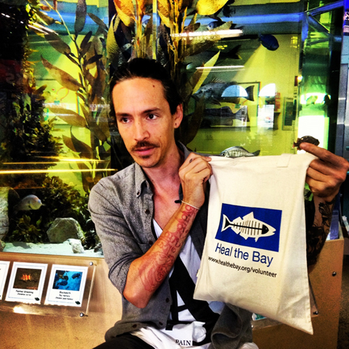 Brandon Boyd Singer from the band Incubus at Heal the Bay's Santa Monica Pier Aquarium Rockin' Reusables