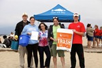 Group volunteering at Coastal Cleanup Day