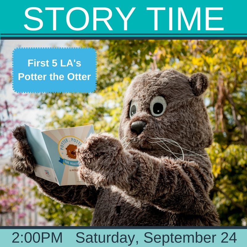Potter the Otter Story Time Saturday, September 24