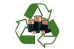 Recycling Logo with Batteries