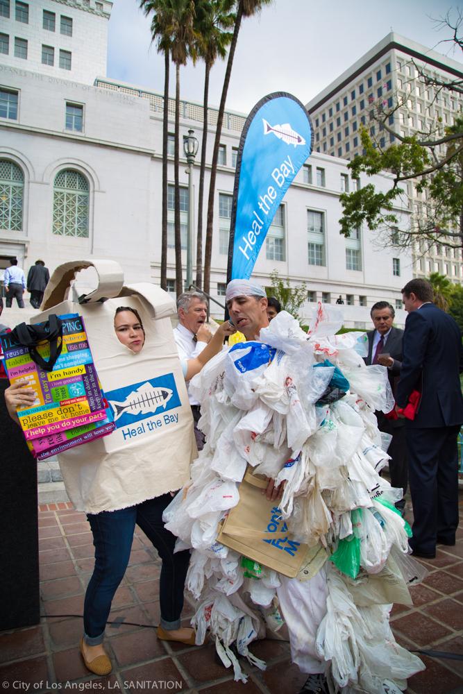 Heal the Bay Bag Monster LA Bag Ban