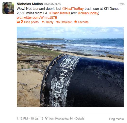 Heal the Bay Trash Can in Hawaii