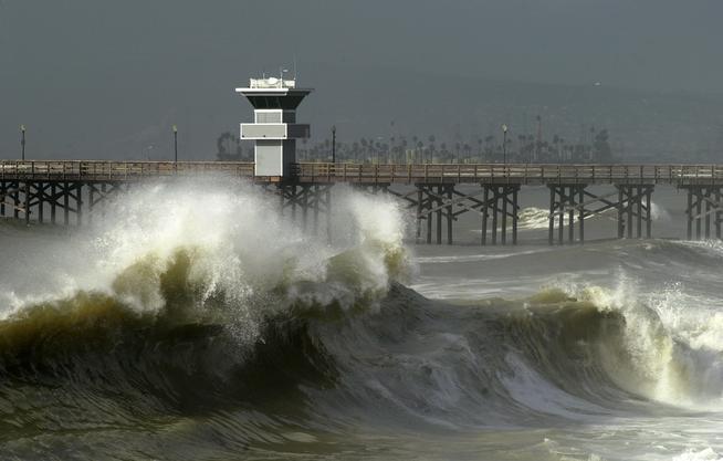 High Tide King Tides Seal Beach California