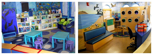 SMPA Kid's Corner before and after