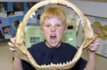 Science Adventures Camp at Santa Monica Pier Aquarium shark jaw