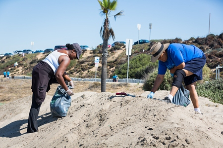 cleanup, heal the bay, beach, volunteer, trash, nothin but sand