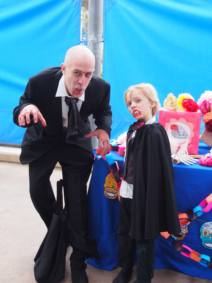 "Photo of a costumed ""Dracula & Son"""