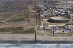 The Border of the United States and Mexico: San Diego (left) and Tijuana (right)