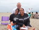 Family at Venice Beach Cleanup