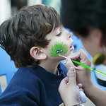 Get your favorite sea animal painted on your face at Ocean Appreciation Weekend