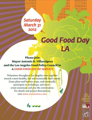 Strengthen the sustainable food movement, join Good Food Day LA on March 31