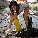 Inland Cleanup - LA River - Picking Up Can