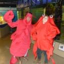 Halloween Parade pals Santa Monica Pier Aquarium Dia de los Muertos costume
