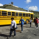 Roscoe Elementary Students arriving at a Heal the Bay field trip