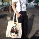 Day Without A Bag 2012 Reusable Heal the Bay canvas tote plastic pollution