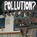 Pollution exhibit at the Santa Monica Pier Aquarium