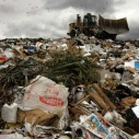 plastic grocery store bag, trash at a Calabasas landfill (Los Angeles Times)