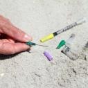 Syringes on the beach