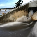Rushing water main (Photo courtesy Los Angeles Times)