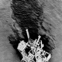 A portion of the 3 million gallon oil slick off Santa Barbara in 1969
