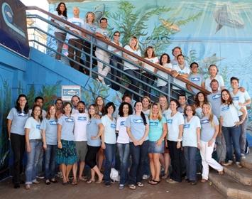 Heal the Bay Staff group shot photo Santa Monica Pier Aquarium