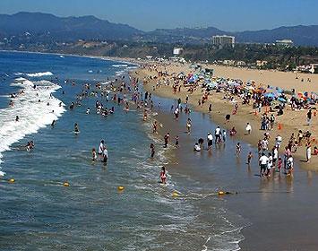 Enjoying the beach in Santa Monica