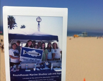 Polaroid Volunteer Cleanup CleanBeach beach santa monica heal the bay