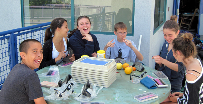 SMASH students science lab