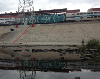 Train by the L.A. River