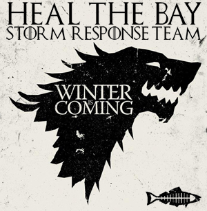 winter is coming game of thrones stark beach ocean pollution storm response team